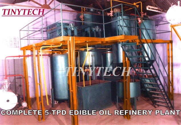 Edible Oil Plants : Edible oil refinery plant